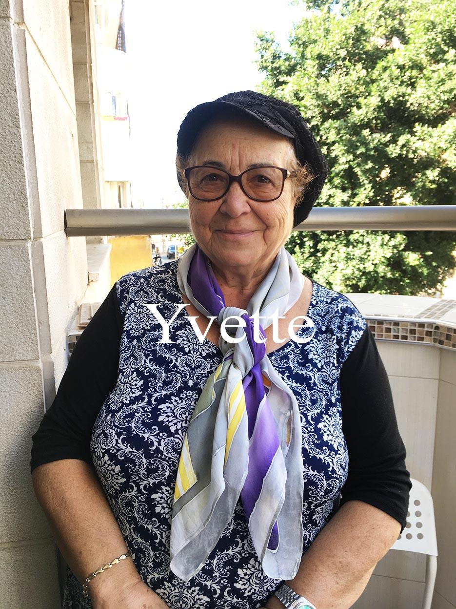 Yvette Hand painted silk scarf in Israel Avigael Creation