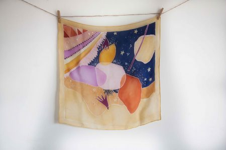 Arty - hand-painted silk scarf