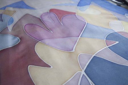 Hand painted challah cover mosaic