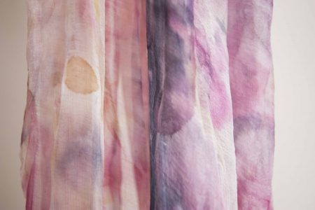 Pink marble - hand-painted silk scarf