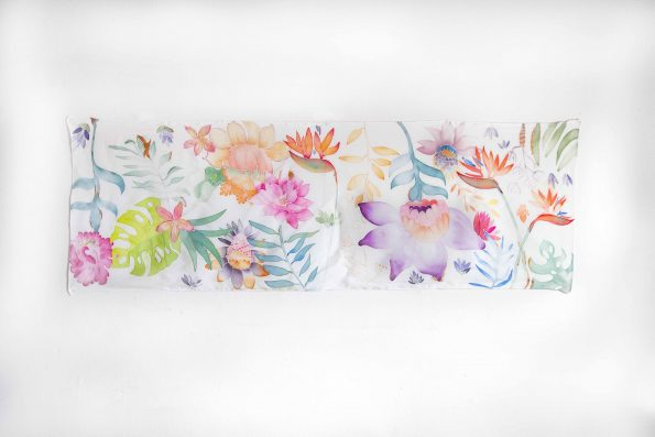 Flowers - hand painted silk scarf