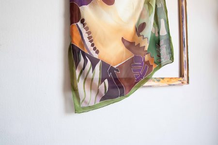 Forest - hand-painted silk scarf