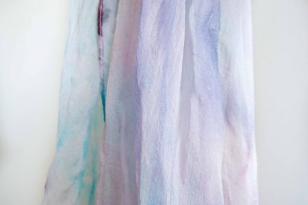 Beach color marble - hand-painted silk scarf