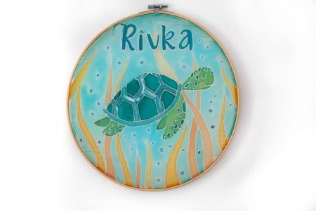 Turtle silk painting child