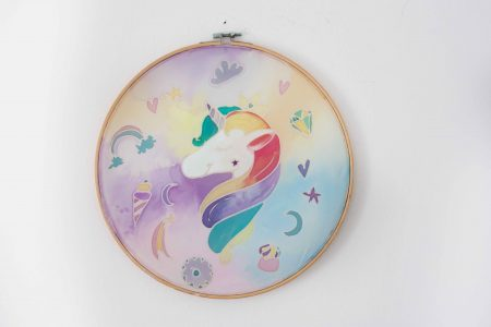 Unicorn silk painting child