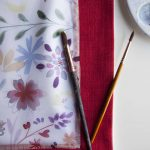 Red flowers challah cover